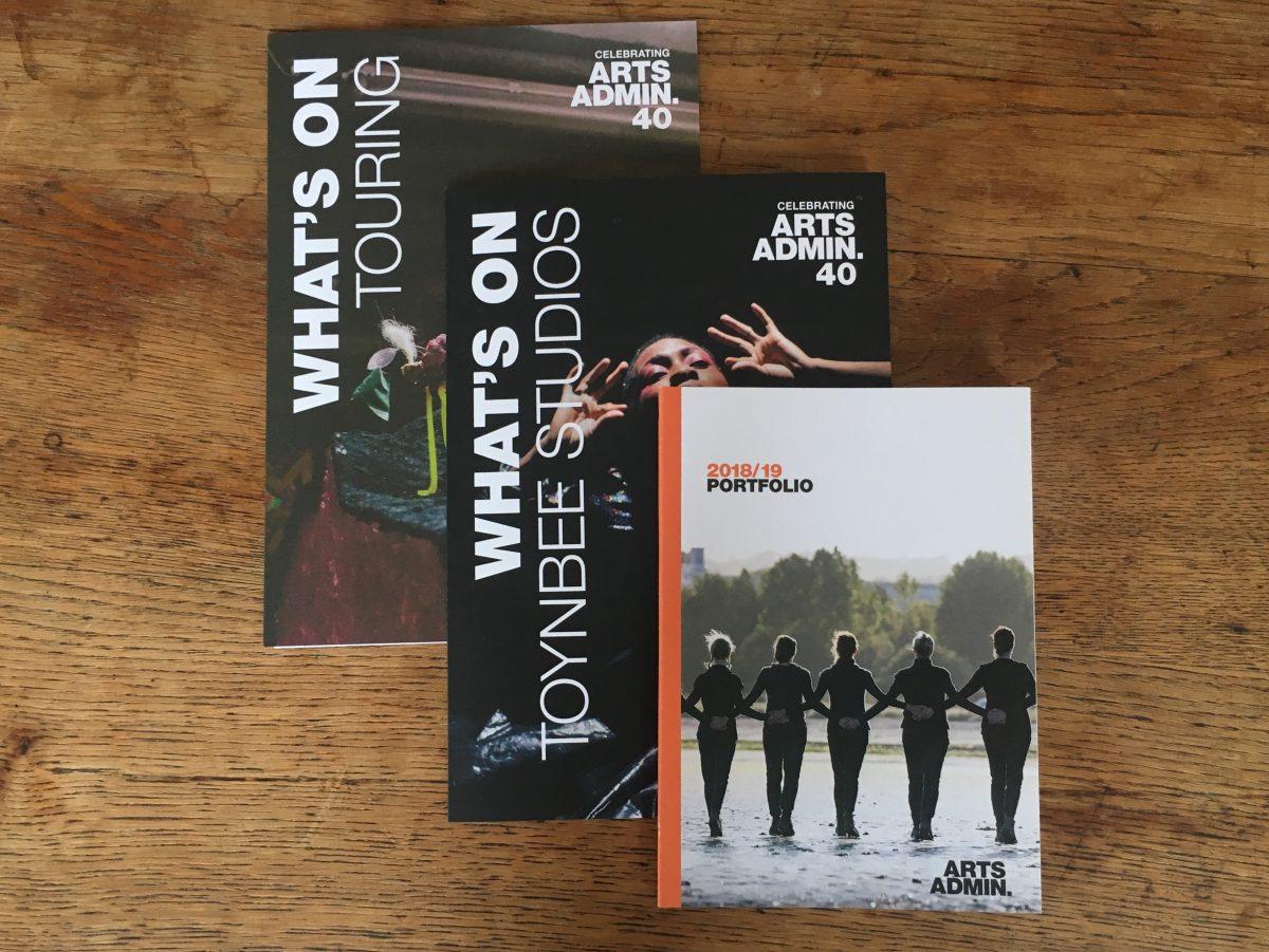 Artsadmin season brochures