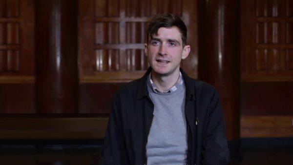 Tim Spooner being interviewed