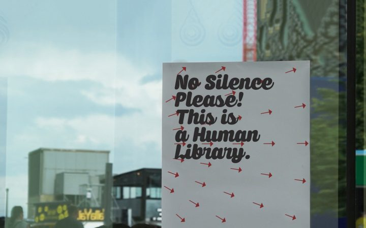 No silence please! This is a Human Library.