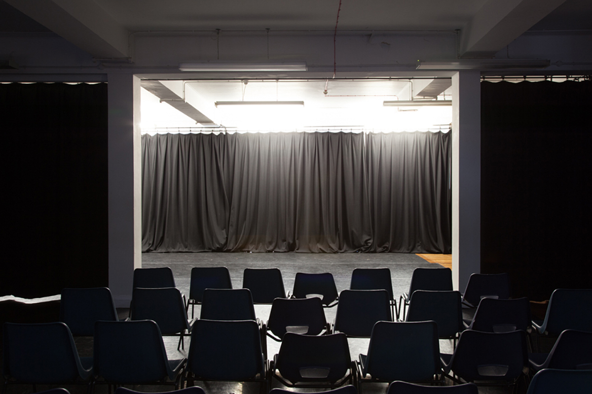 Interior of Studio 3 with seating