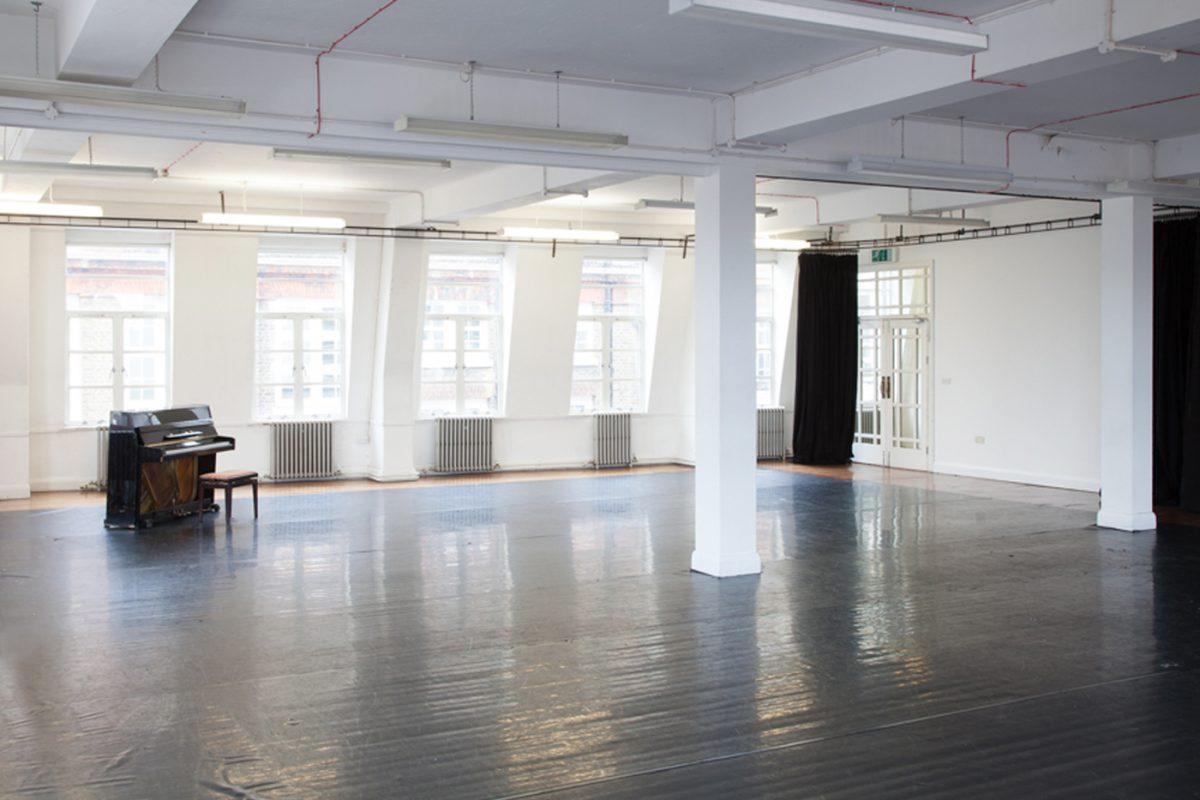 Interior of Studio 3 at Toynbee Studios