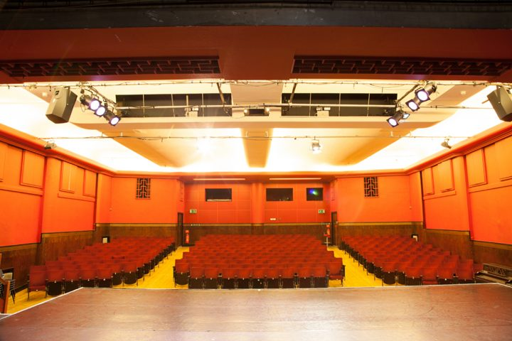 View from the Toynbee Studios Theatre stage