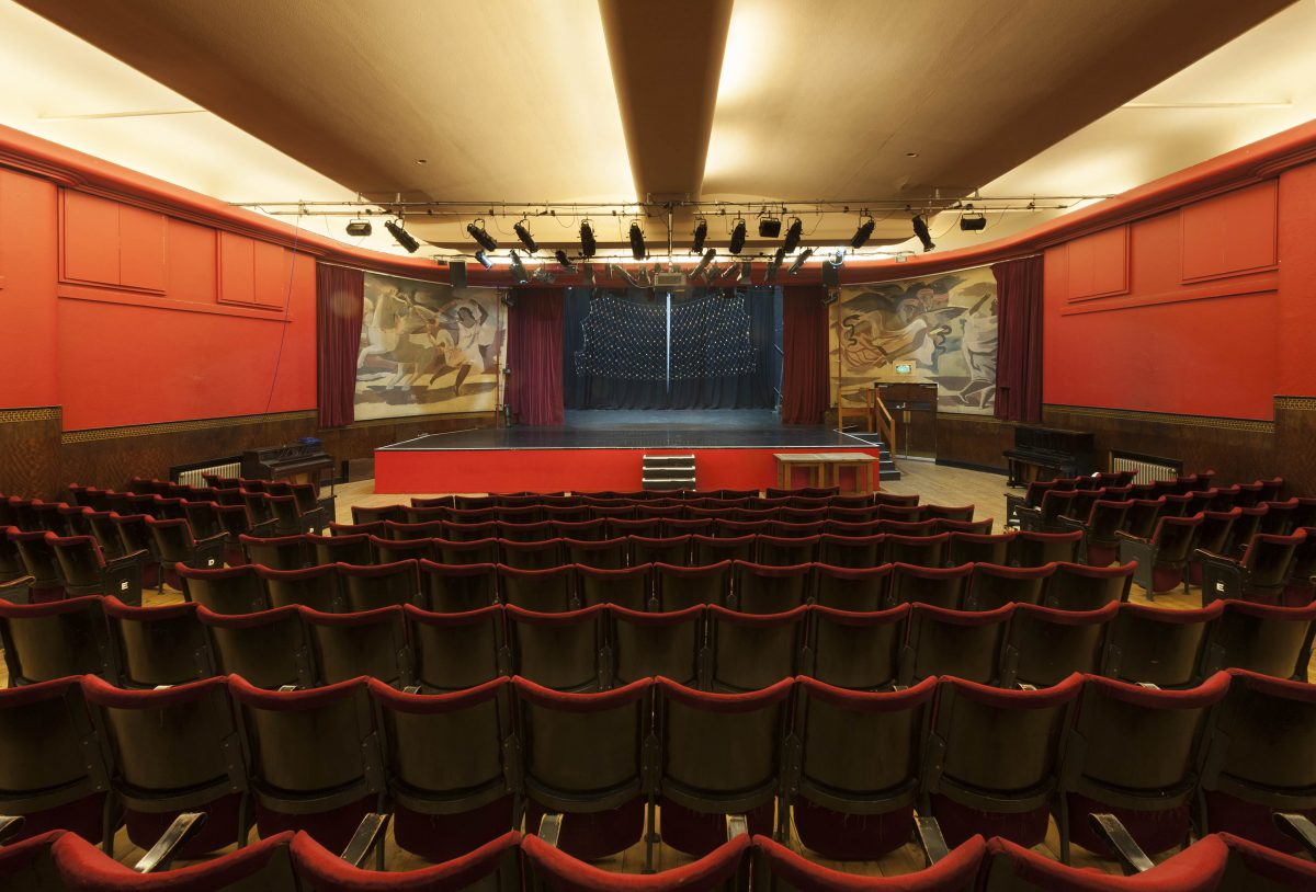 View of the Toynbee Studios Theatre stage