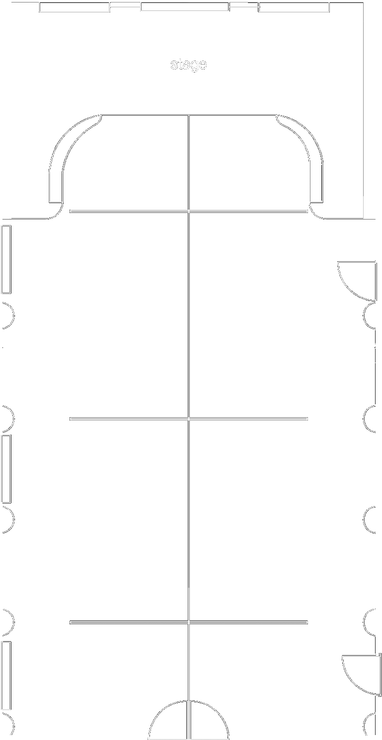 Floorplan schematic drawing of the Court Room