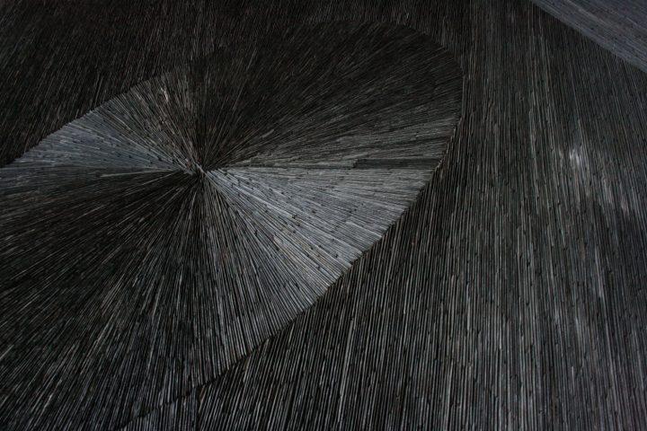 Geometric pattern in slate