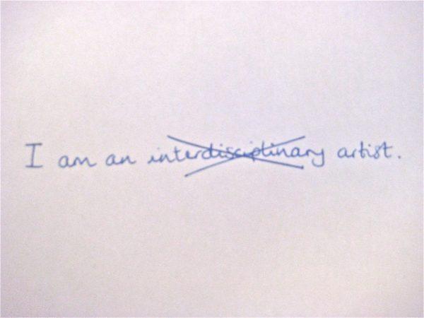 I am an ... artist