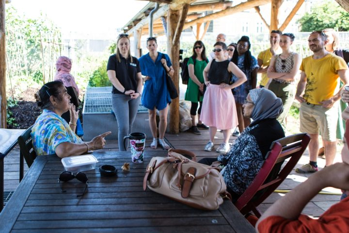 Artists from across Europe at an Imagine 2020 Summer Lab in east London