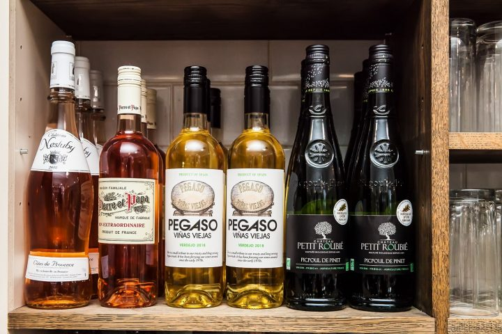 Selection of organic wines