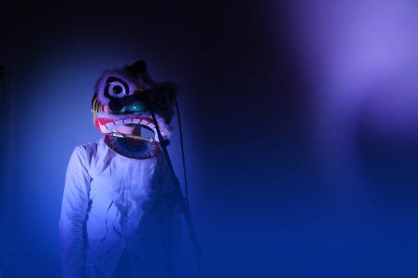 Futuristic chinese dragon costume
