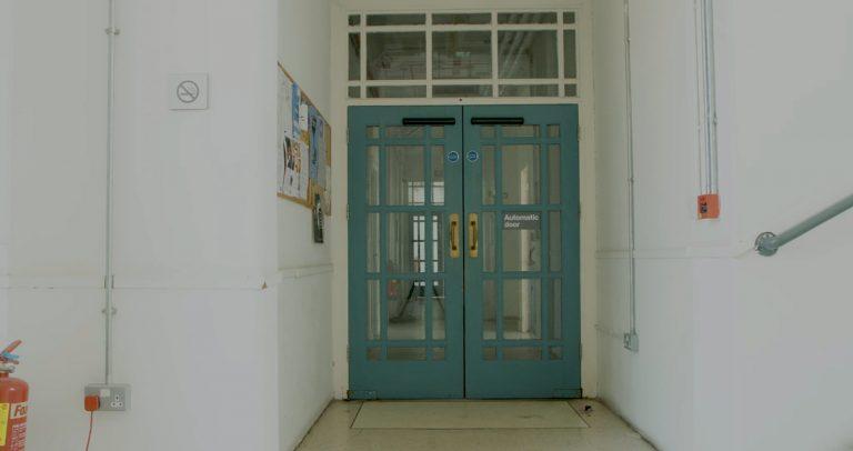 View of a corridor door