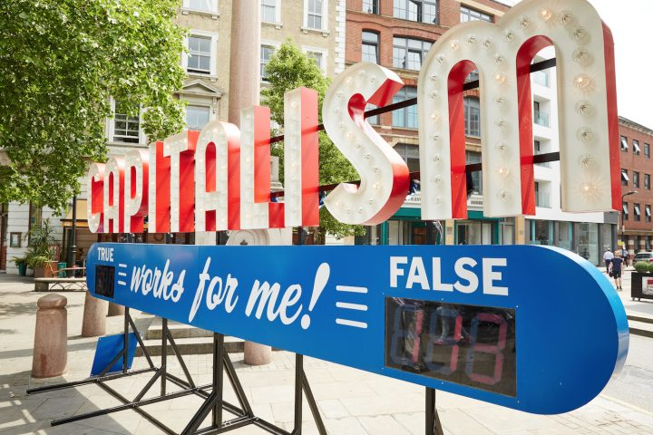 Capitalism Works for Me! installation