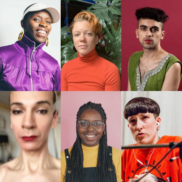 Six portrait images of six people