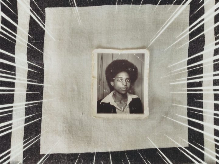 A passport photo portrait of Lateisha's mother